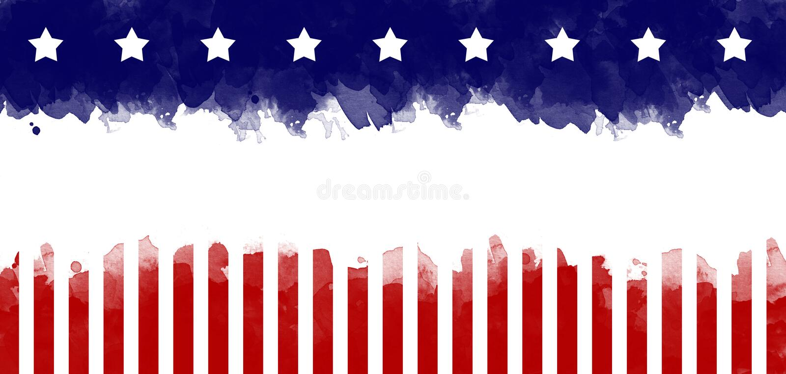 American flag grunge greeting card background.  royalty free stock image