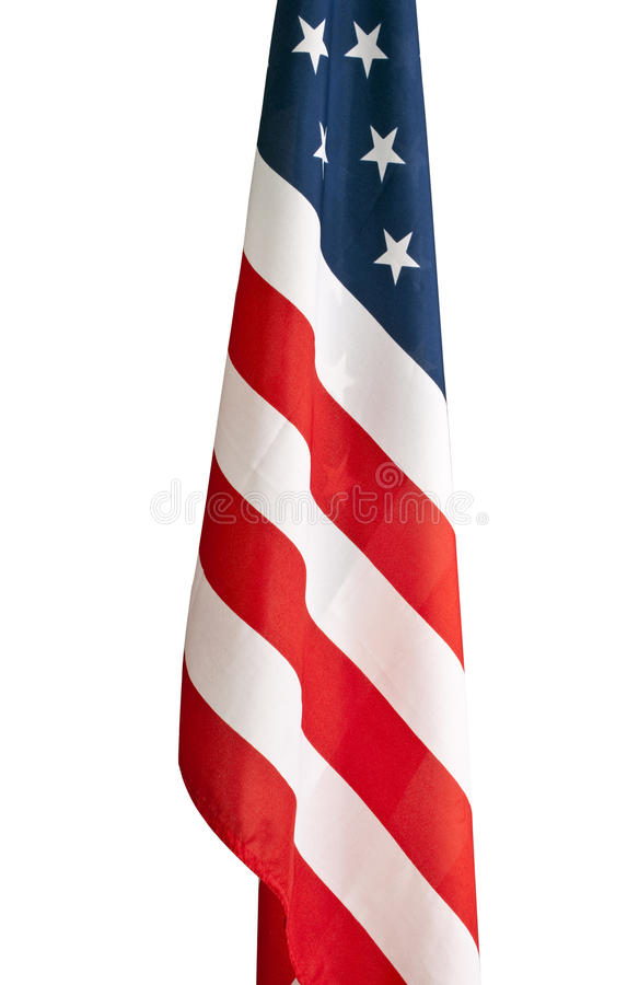 American flag hanging in a school room. stock images