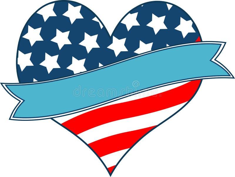 Download American flag heart stock vector. Image of landmark, patriotic - 23435420