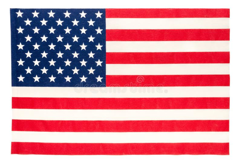 American Flag. High Resolution on White stock image