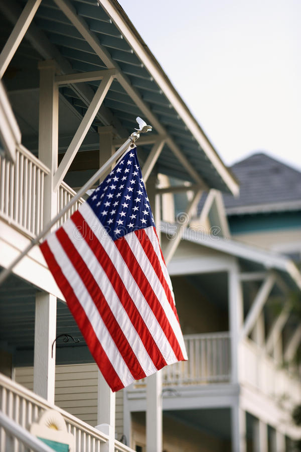 Download American Flag on Home stock photo. Image of patriotic - 12976436