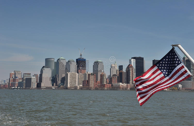 Download American Flag On The Hudson Stock Image - Image: 19460331