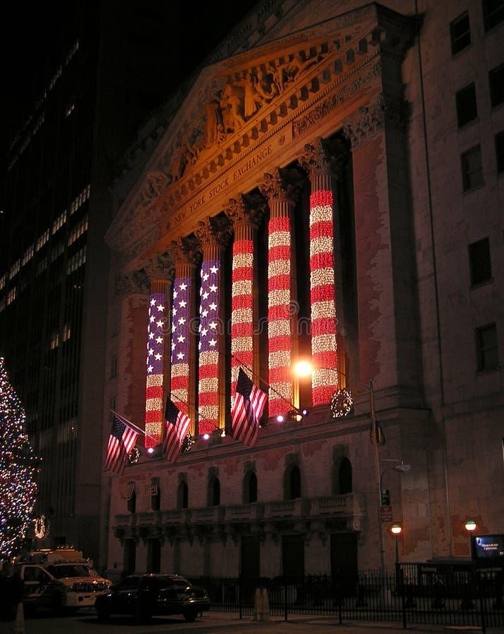 American flag illuminations stock photography