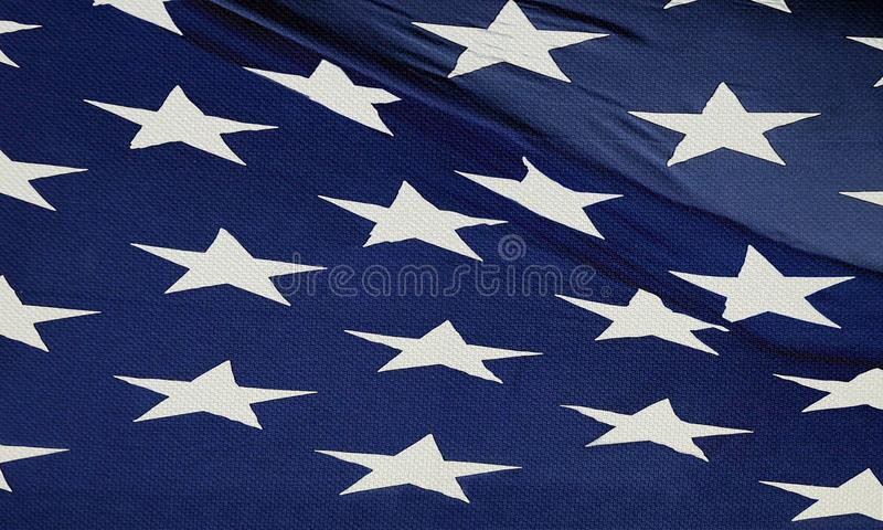American Flag. Image of American Flag with Blue Background and Stars royalty free stock photo