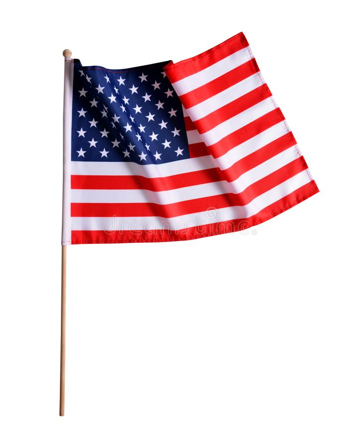 American flag isolated royalty free stock image