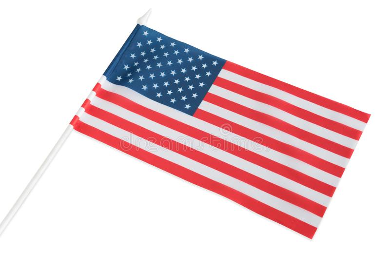 The American flag is isolated on a white background royalty free stock photo