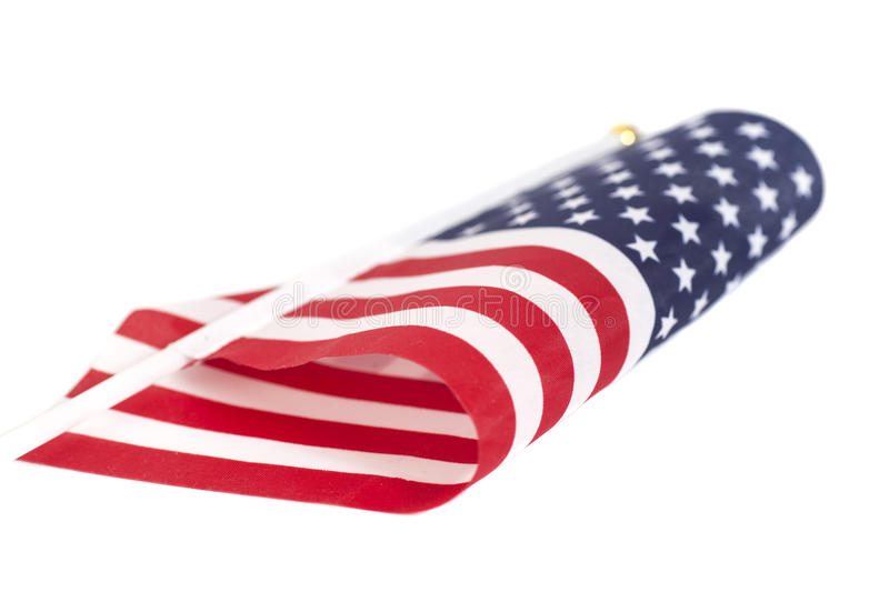 American flag. Isolated on white background stock images