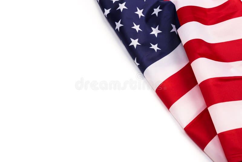 American flag  on white background. Image stock photos