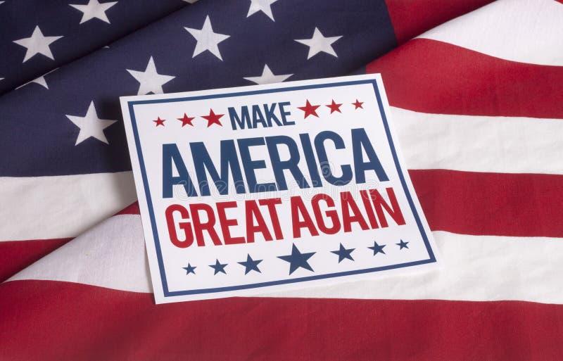American Flag - Make America great again royalty free stock photo