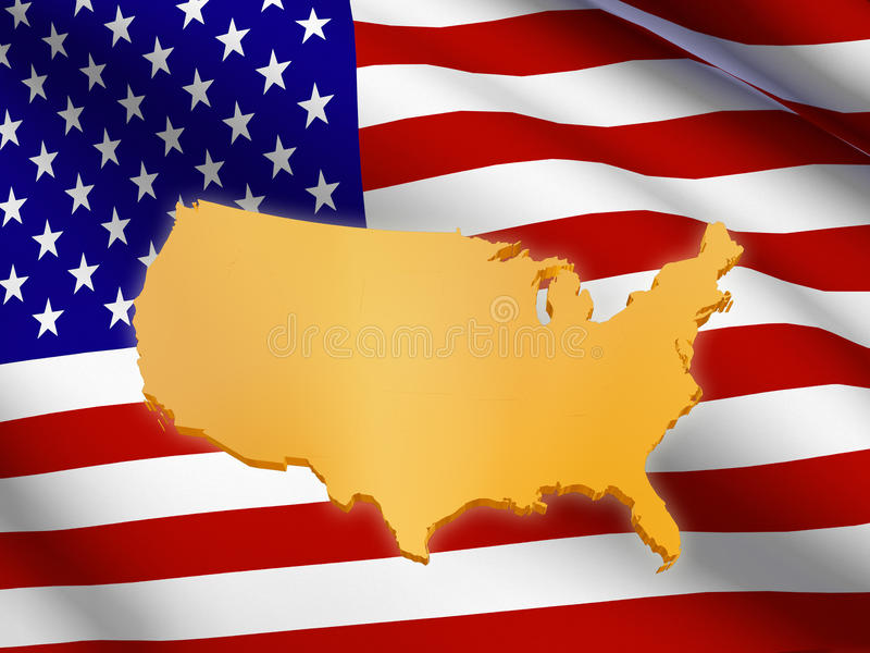 Download American flag and map stock photo. Image of politic, holiday - 25225640
