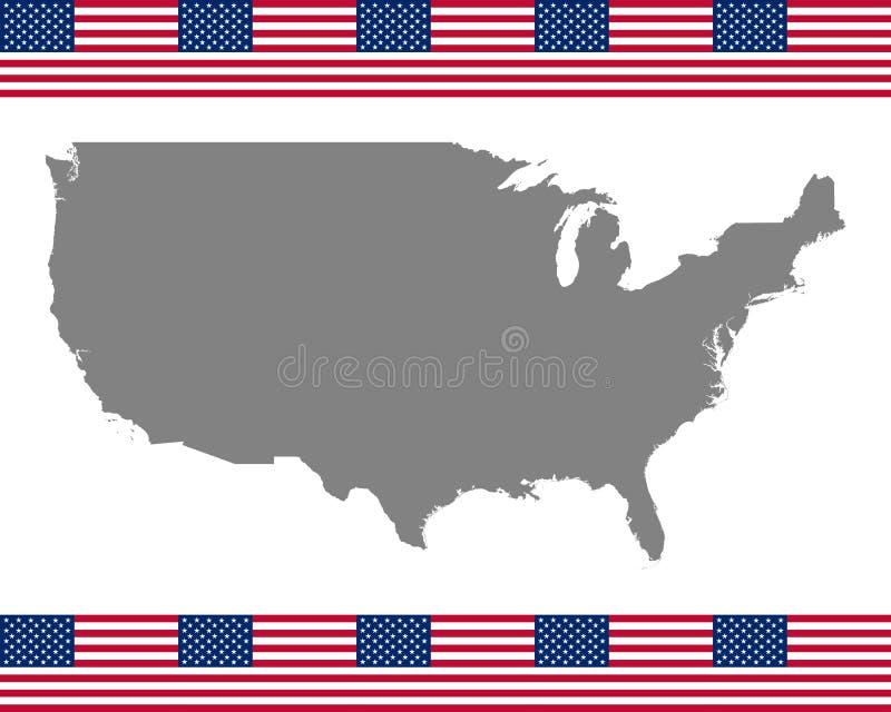 American Flag Map Stock Illustrations – 18,450 American Flag