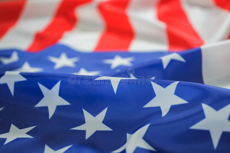 American flag for Memorial Day or Independence Day royalty free stock photo
