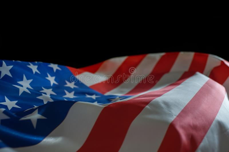 American flag for Memorial day or Independence day royalty free stock image