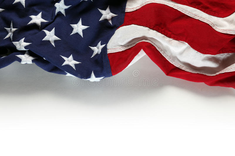 American flag for Memorial Day or 4th of July royalty free stock image