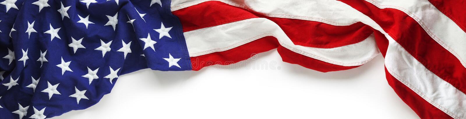 American flag for Memorial day or Veteran`s day background royalty free stock images