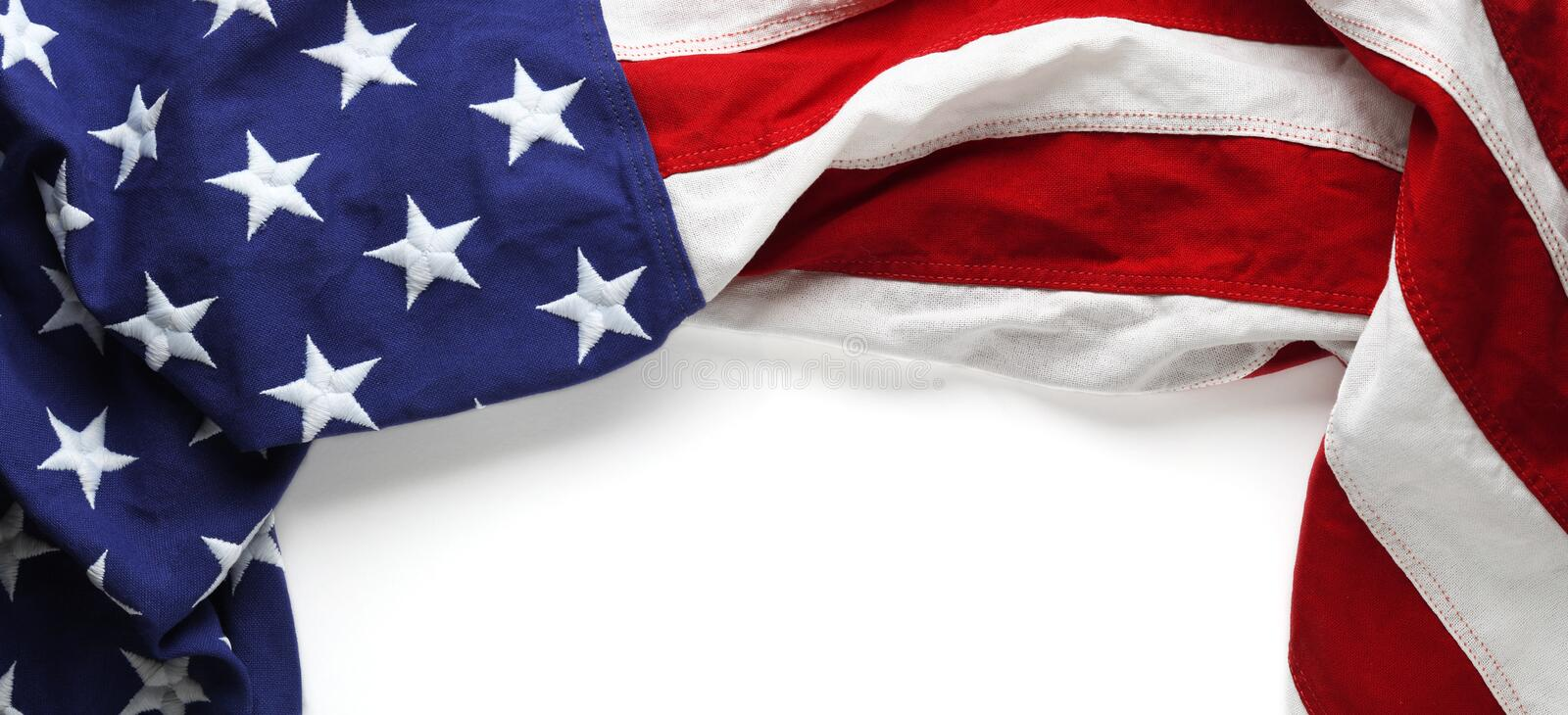 American flag for Memorial day or Veteran`s day background. Red, white, and blue American flag for Memorial day or Veteran`s day background stock images