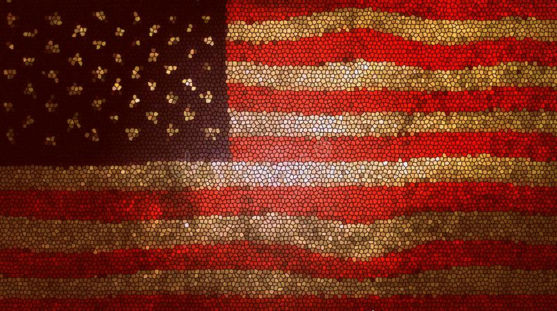American flag mosaic texture background royalty free stock photo