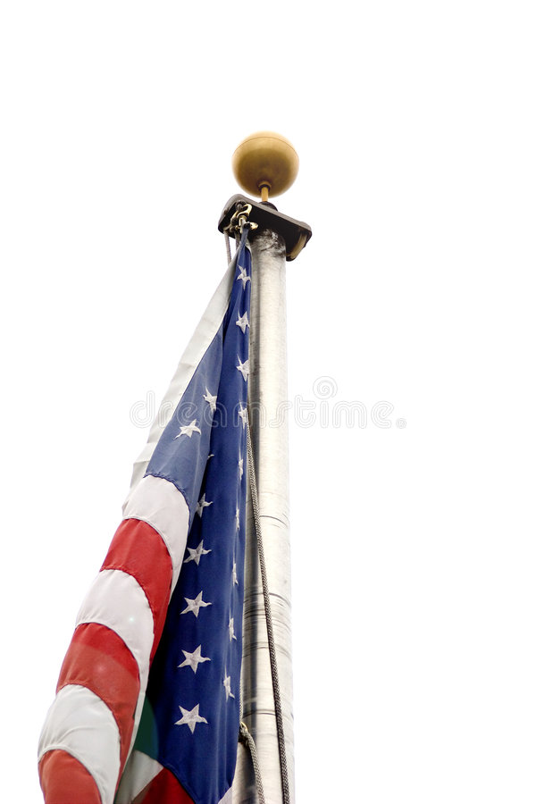 American flag with no wind stock photo