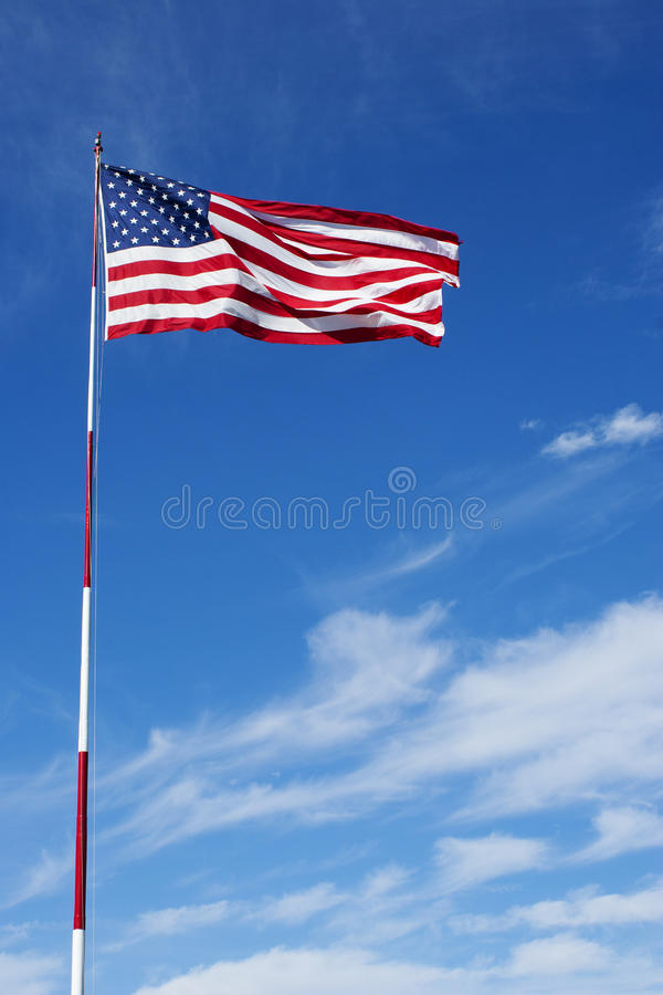 Free American Flag On Pole Stock Photography - 38730492