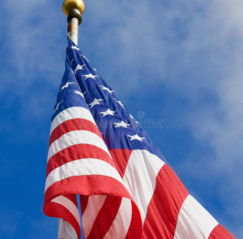 Free American Flag On Pole Stock Photography - 66806372