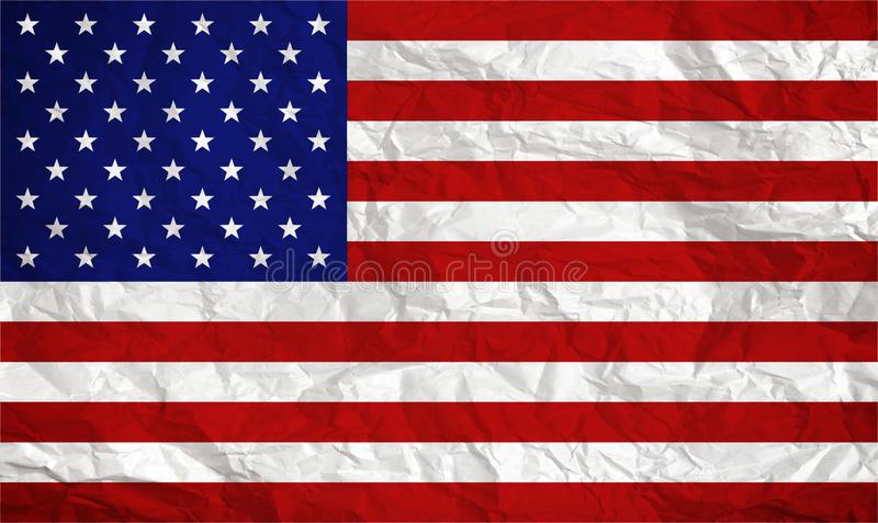American flag overlaid with grunge texture - Image.  stock photo