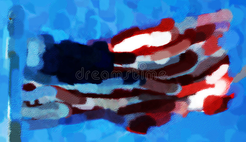 American Flag Painting royalty free stock image