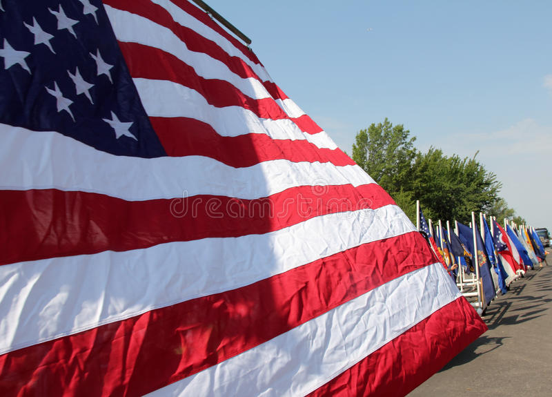 American Flag on Parade royalty free stock photos
