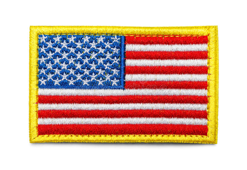 American Flag Patch stock photo