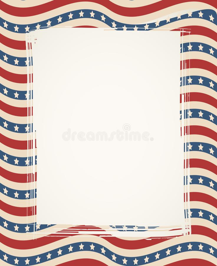 American flag patriotic background vector illustration