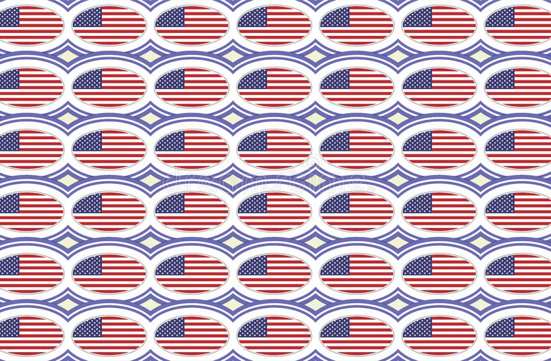 American flag pattern stock illustration