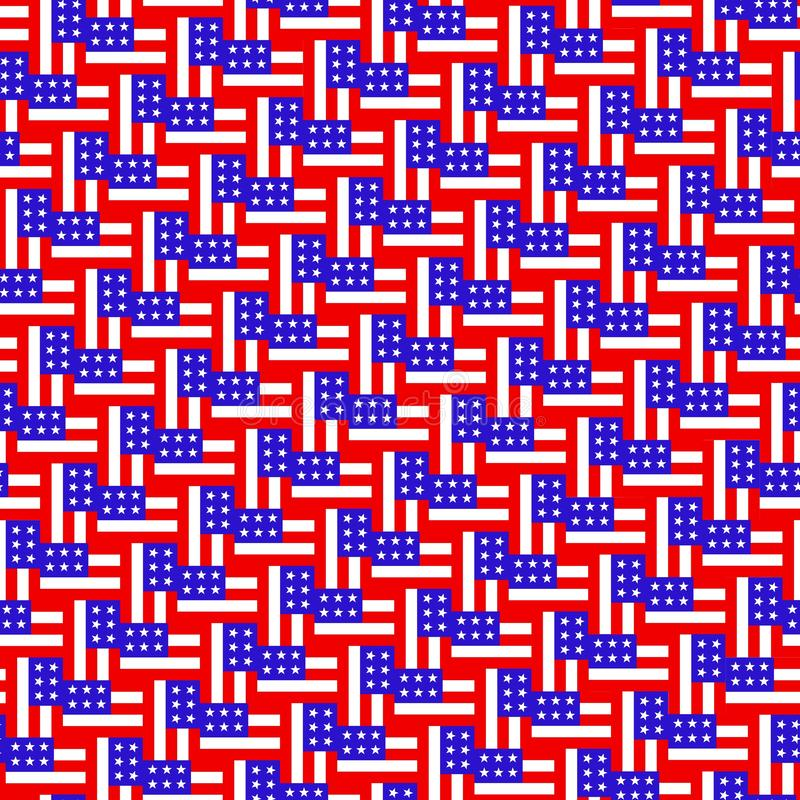 American flag pattern. repeat background stock illustration