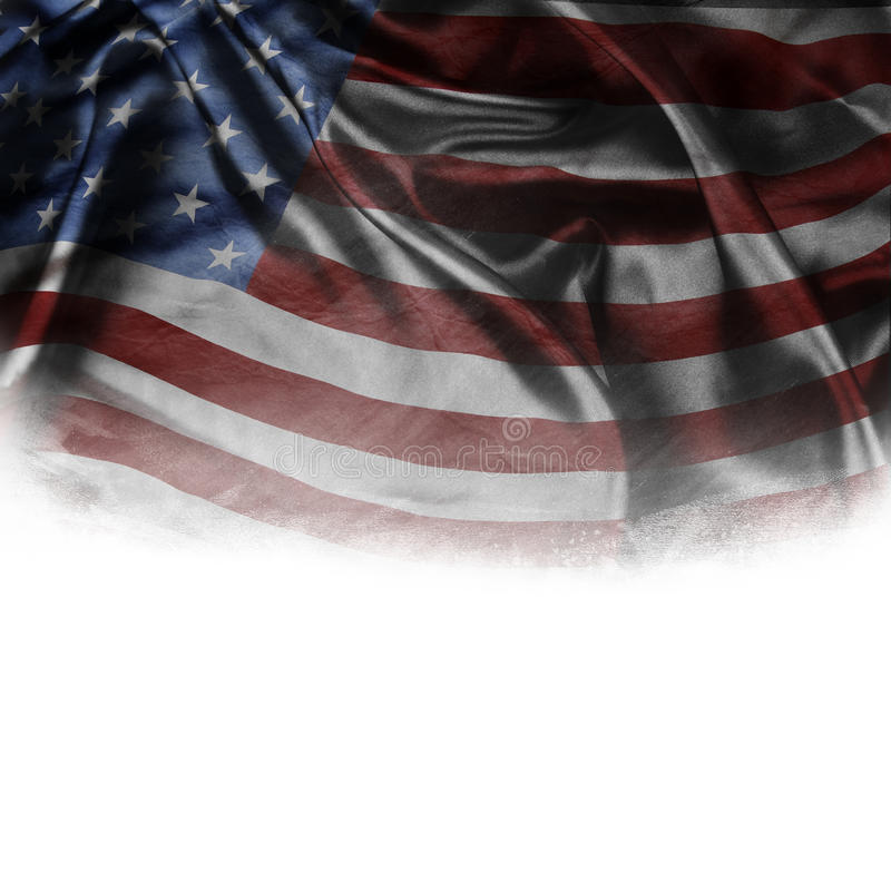 American flag. On plain background royalty free stock photography