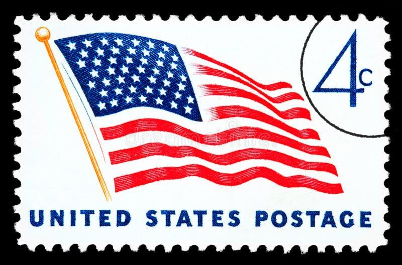 American Flag Postage Stamp stock illustration