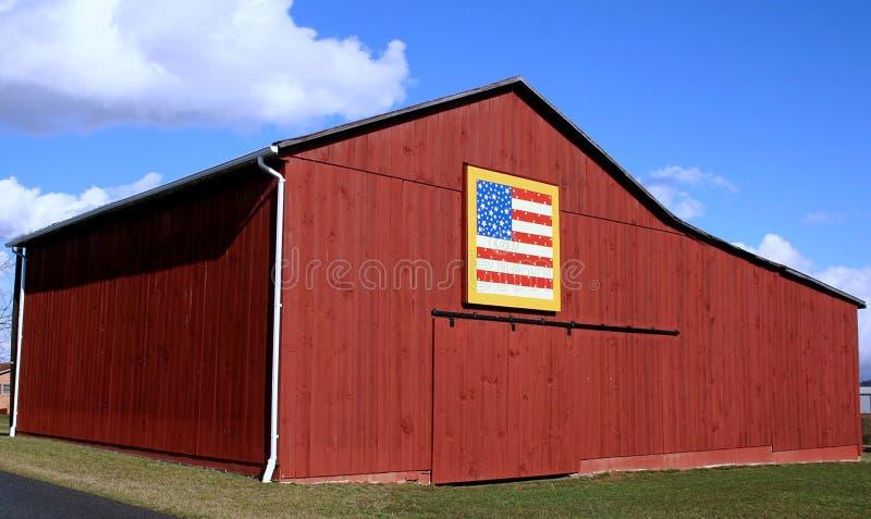 American Flag Quilt Barn Stock Photos