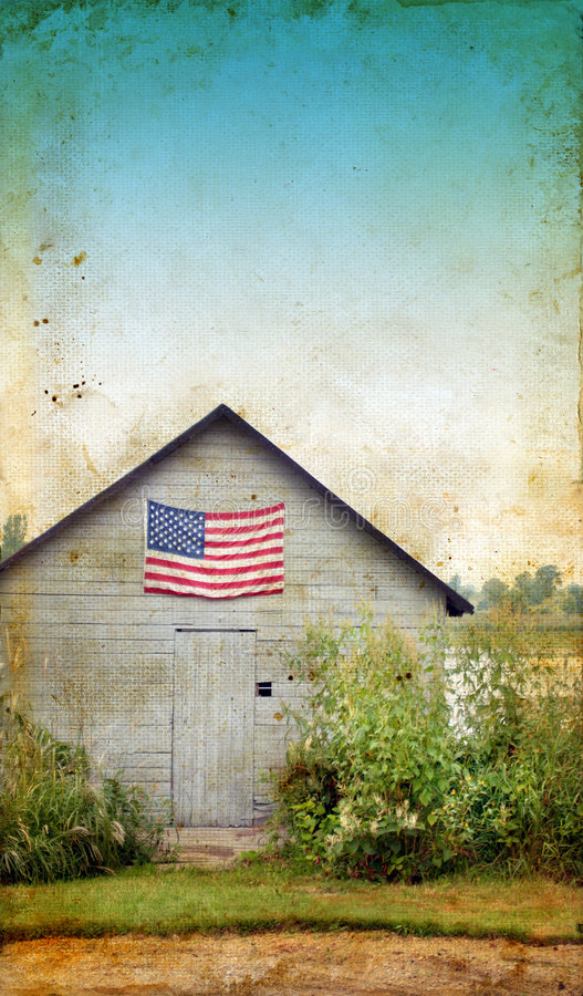 Download American Flag On Shed With Grunge Background Stock Images - Image: 6892024