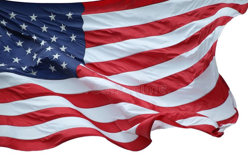 American Flag. Shuttering in the air royalty free stock images