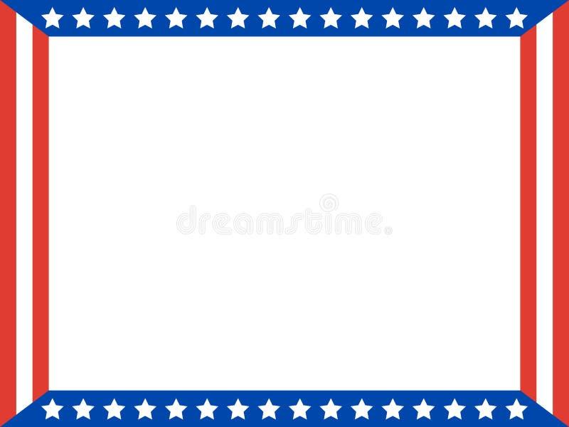 American flag stars Patriotic frame. royalty free stock image