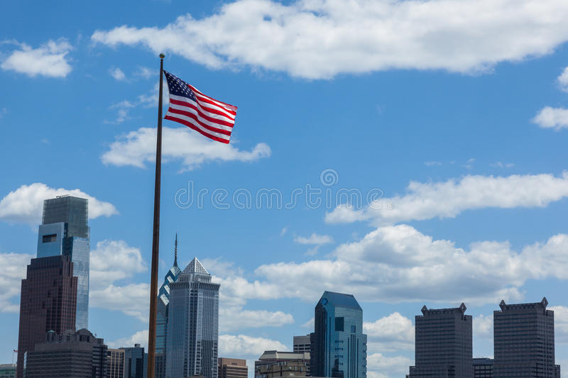 Download American Flag Stars And Stripes  Floating In Front Of The  - Phi Stock Photo - Image: 41289482