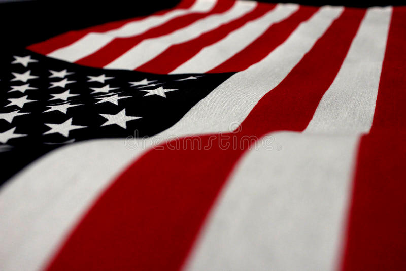 American Flag. The stars and stripes of the iconic American flag royalty free stock image