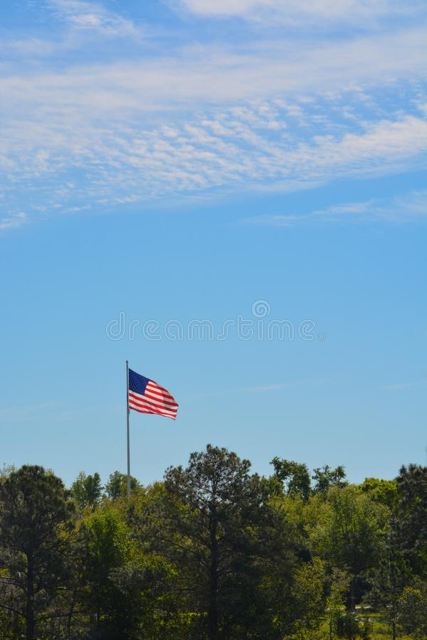The American Flag, Stars and Stripes, Red, White and Blue stock photo