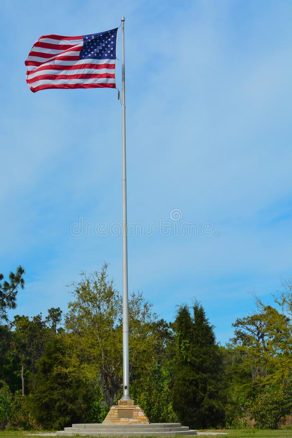 American Flag, Stars and Stripes stock photo