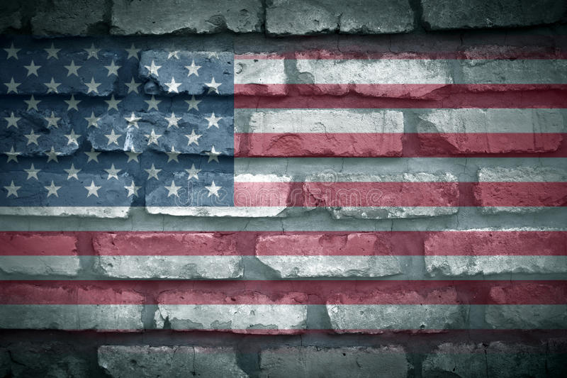 American Flag. On stone surface royalty free stock image