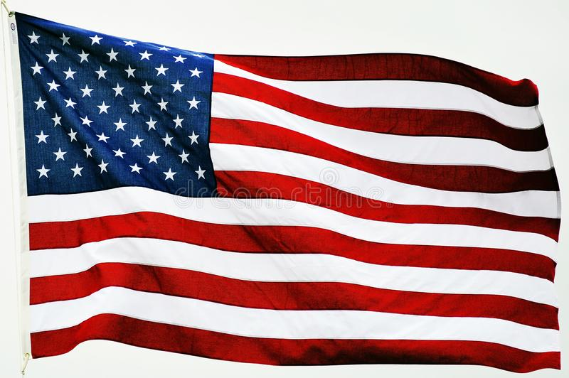 American flag, a symbol of freedom for the united states of america royalty free stock photo