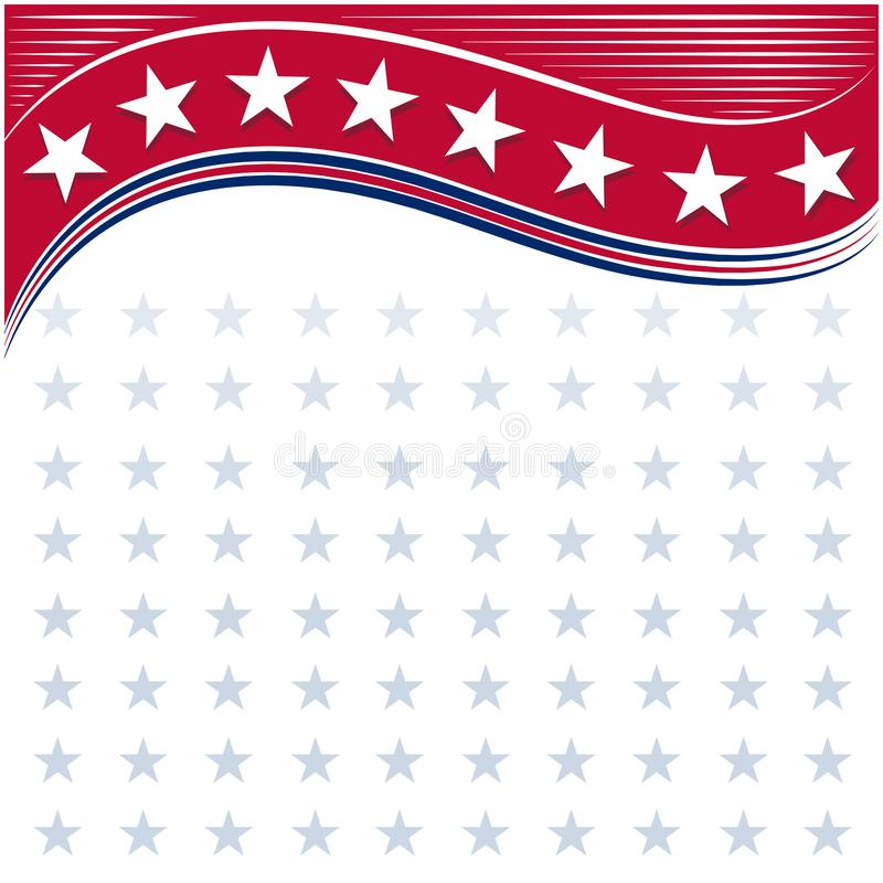 American flag symbols background frame with stars stock illustration