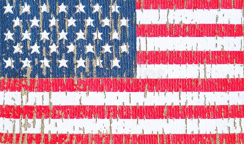 American flag on a t-shirt of a us army soldier. Selective focus.  vector illustration