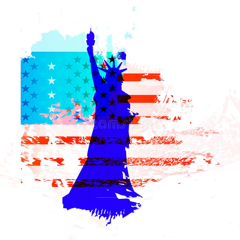 American flag is the US Independence Day. royalty free illustration