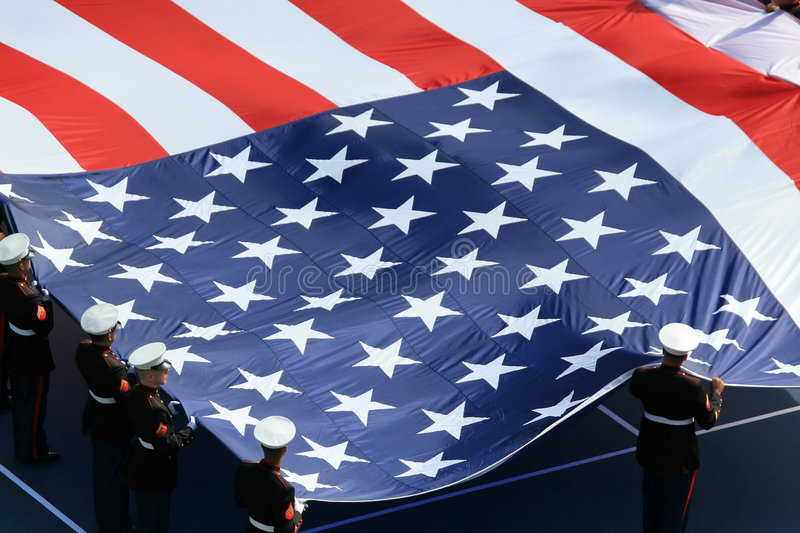 Download American Flag On US Open Royalty Free Stock Image - Image: 3894756