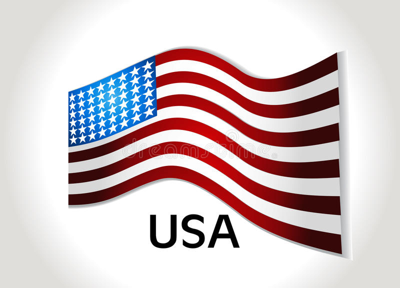 American Flag, Vector background for Independence stock illustration