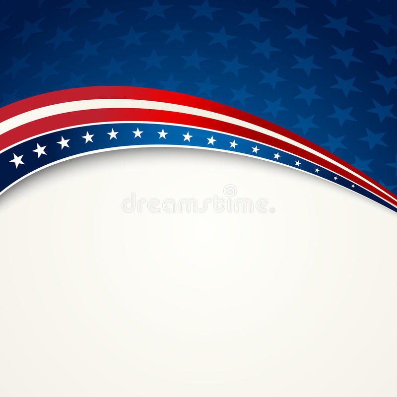American Flag, Vector patriotic background royalty free illustration