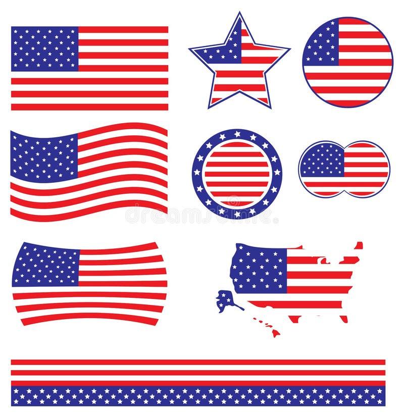 American Flag vector vector illustration